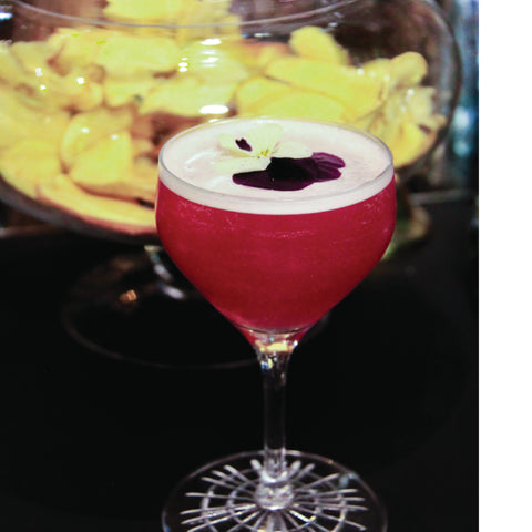 Mocktail Virgin Lissip Lady au sirop Framboise Rose Pomme