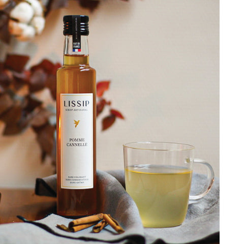 Mocktail lissip warm cocoon au sirop pomme cannelle
