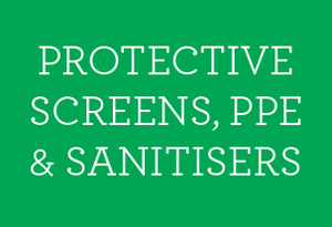 Protective Screens, Sanitisers & PPE - Social distancing kits