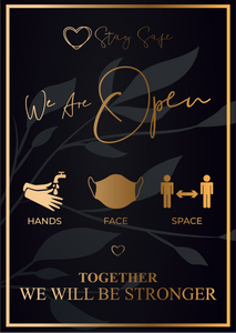 Social Distancing 'We Are Open' Poster - Social distancing kits