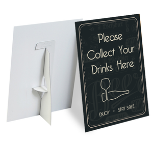 Collect Your Drinks Strut Card - Social distancing kits