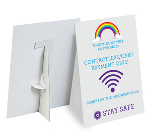 A4 Rainbow Strut Card Type 2 - Social distancing kits