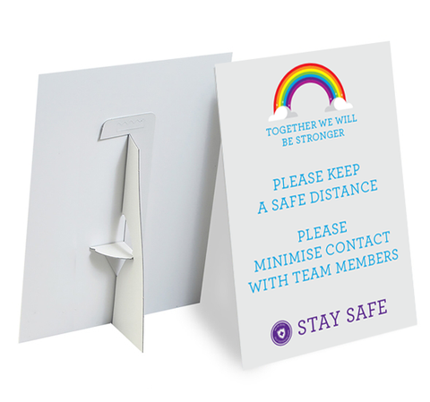 A4 Rainbow Strut Card Type 1 - Social distancing kits