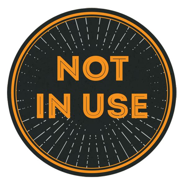 Not In Use Stickers (packs of 5) - Social distancing kits