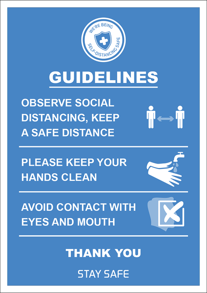 Social Distancing Guidelines Poster