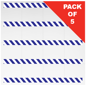 Social Distancing Chevron Floor Strips Blue pack of 5