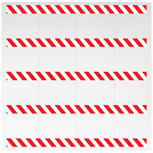 Social Distancing Chevron Floor Strips Red pack of 5