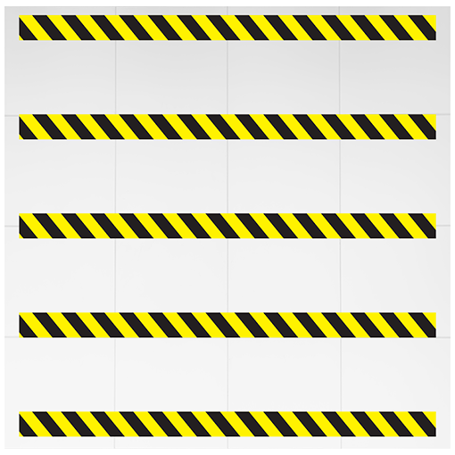 Social Distancing Chevron Floor Strips Yellow pack of 5