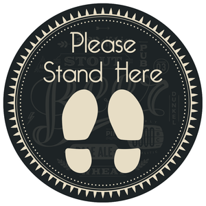 Please Stand Here Floor Sticker 420mm - Social distancing kits