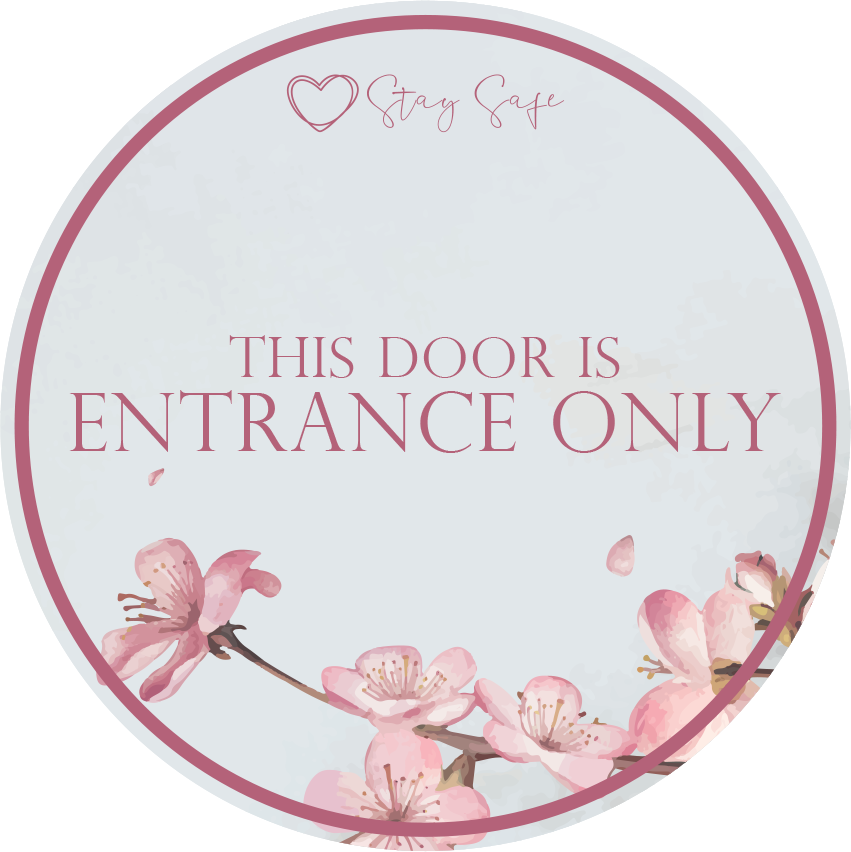 Entrance Only Window Stickers - Social distancing kits