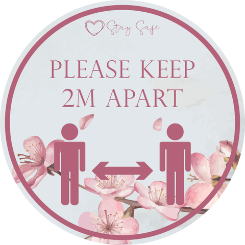 2m Apart Floor Sticker 420mm