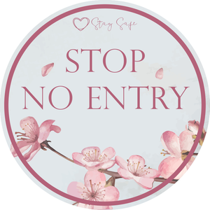 No Entry Floor Sticker (pack of 5) 250mm