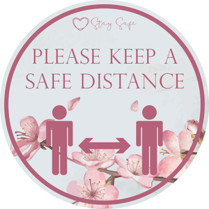 Safe Distance Apart Floor Sticker 420mm