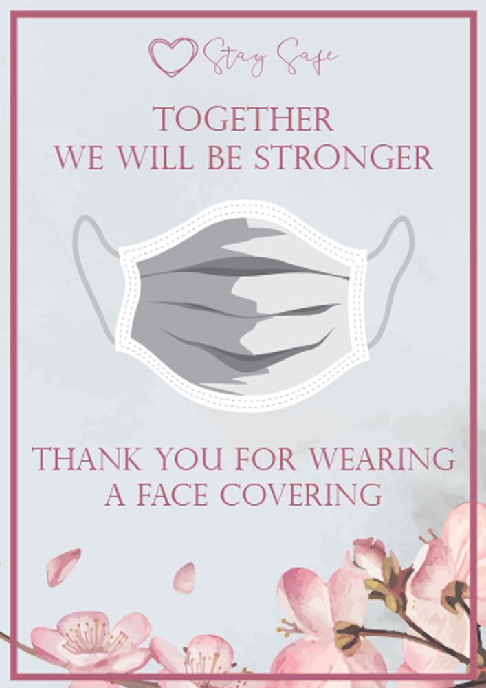 'Please Wear a Face Covering' Poster