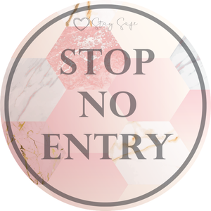 No Entry Floor Sticker 420mm
