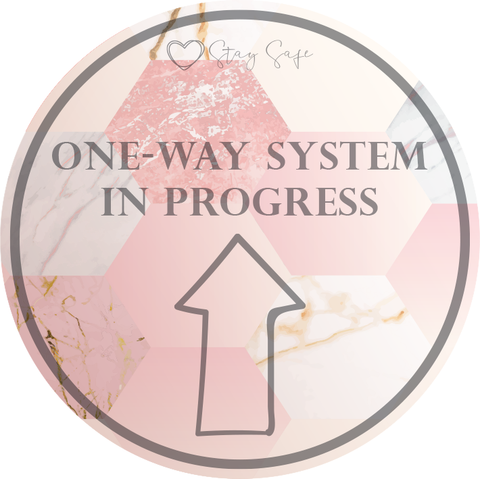 One Way System Floor Sticker 420mm