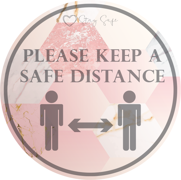 Safe Distance Apart Floor Sticker (pack of 5) 250mm