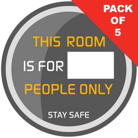Space Capacity Window Stickers (pack of 5) 200mm - Social distancing kits