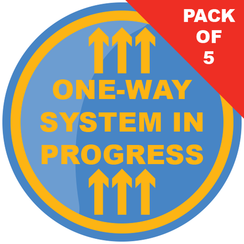 One Way System Floor Sticker (pack of 5) 200mm - Social distancing kits
