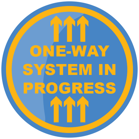 One Way System Floor Sticker 420mm - Social distancing kits