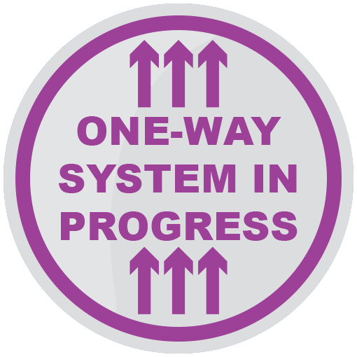 One Way System Floor Sticker (pack of 5) 200mm