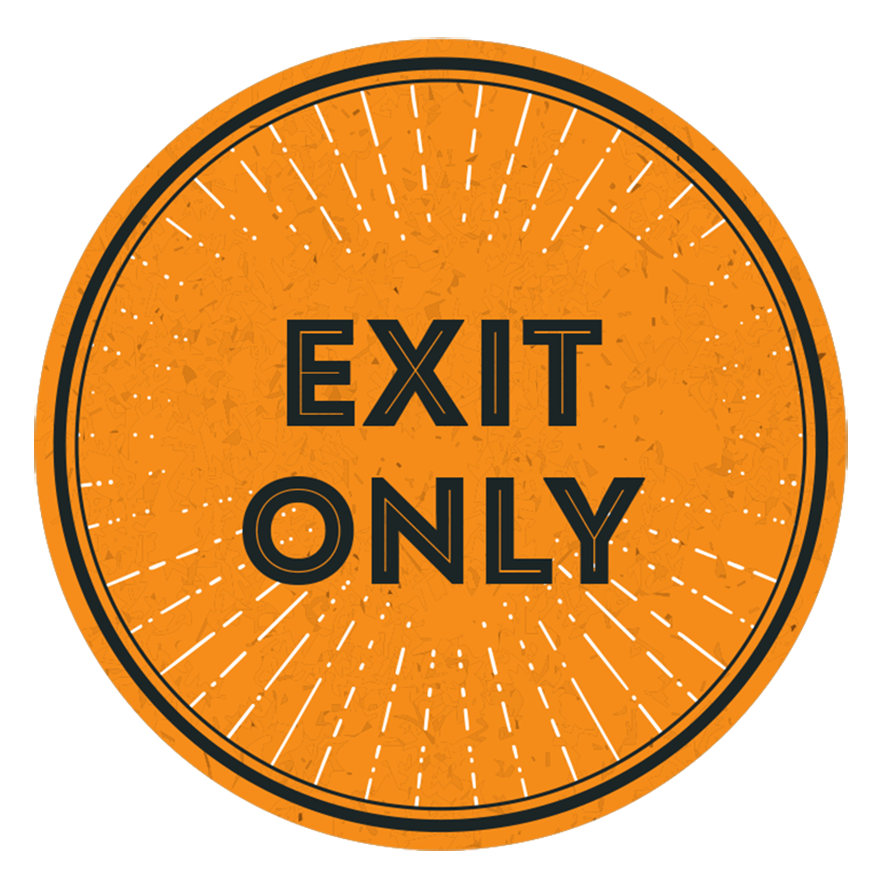 Exit Only Window Stickers