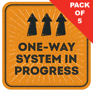 One Way System Floor Sticker (pack of 5) 250mm