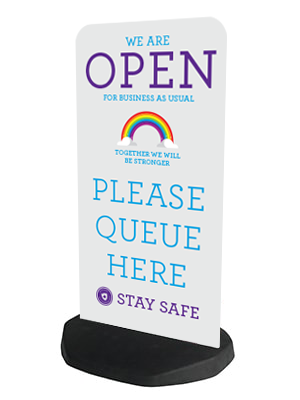 Rainbow Pavement Sign and Base Type 2 - Social distancing kits