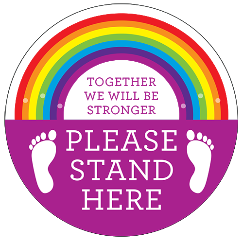 Rainbow Floor Stickers Type 2 - Social distancing kits
