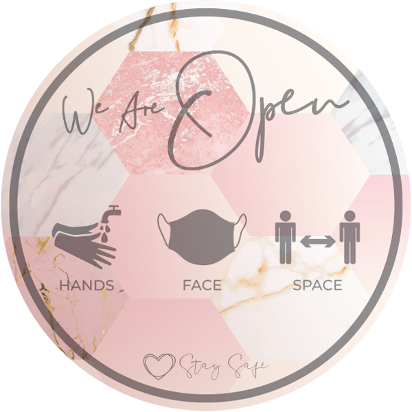 We Are Open Window Stickers - Social distancing kits