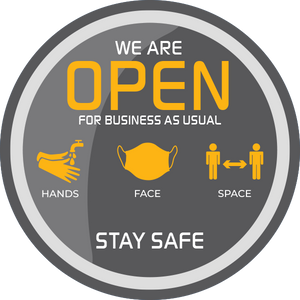 Window Stickers 'We Are Open' - Social distancing kits