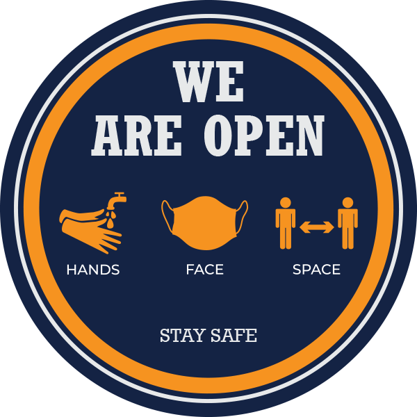 We Are Open Window Stickers