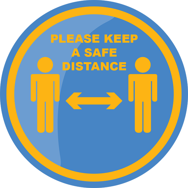 Safe Distance Floor Sticker 420mm