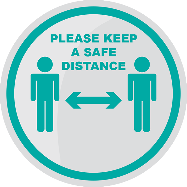 Safe Distance Floor Sticker (Pack of 5) 200mm