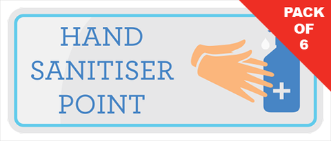 Hand Sanitiser Point Stickers (pack of 6) - Social distancing kits