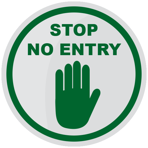 No Entry Floor Sticker (pack of 5) 200mm