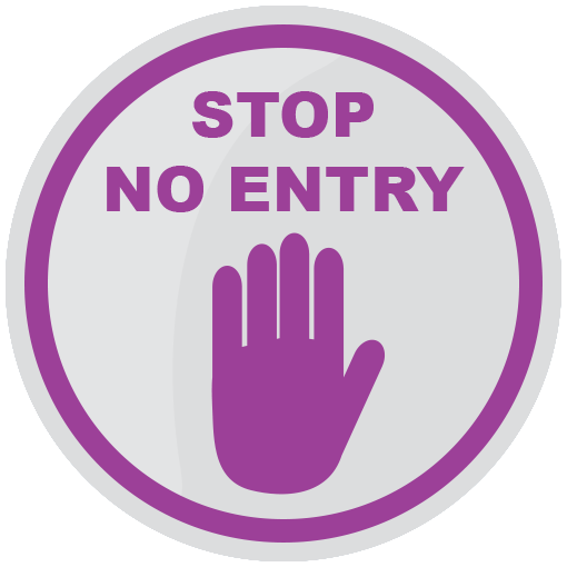 No Entry Floor Sticker 420mm - Social distancing kits