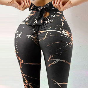 Black Marble Rope Pants