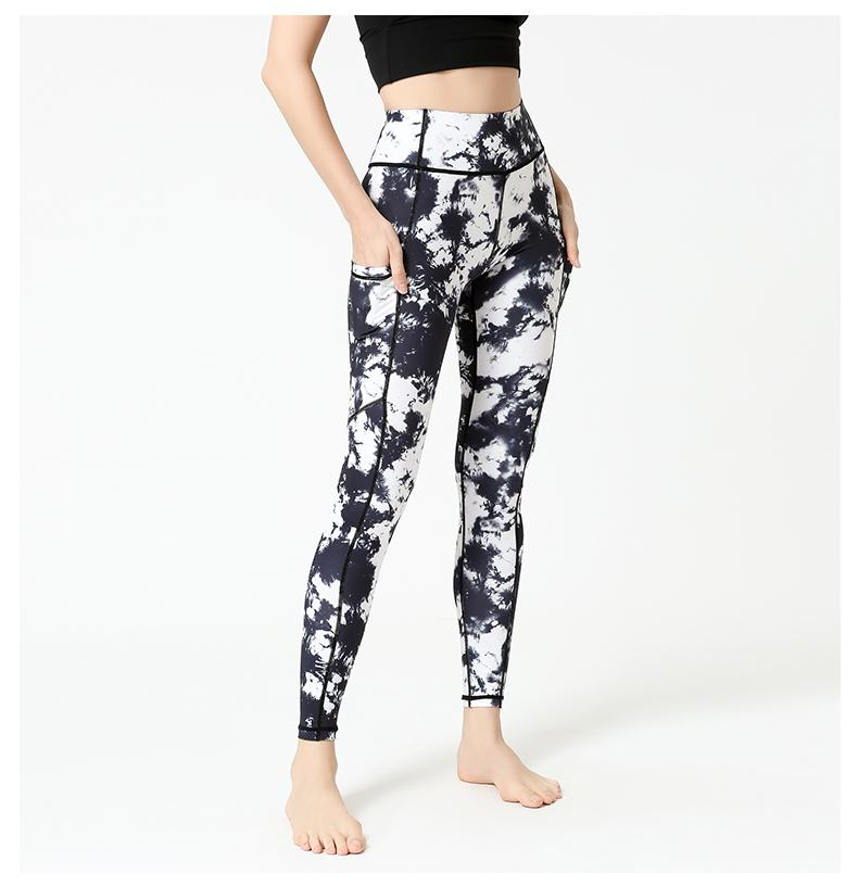 Black White Yoga Legging - Yoga Pants - MIRACLE&MEMORY