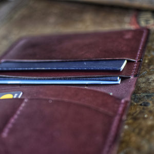Leather passport wallet