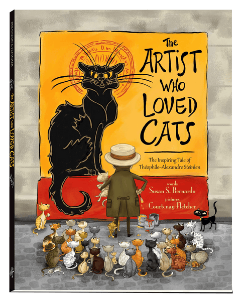 CASE SET (30) Artist Who Loved Cats: The Inspiring Tale of Theophile-Alexandre Steinlen Hardcover