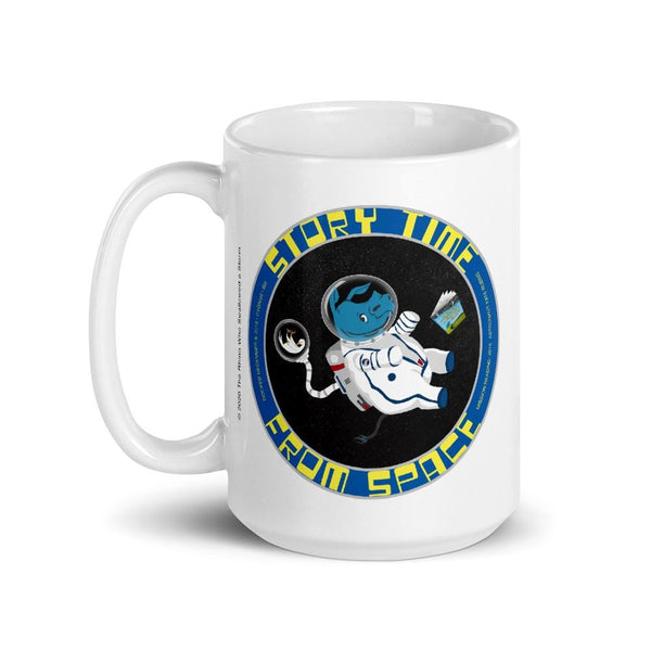 Story Time From Space Rhino Mug