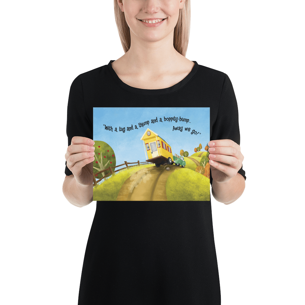 Poster Big Adventures Tiny House 8x10 Inches