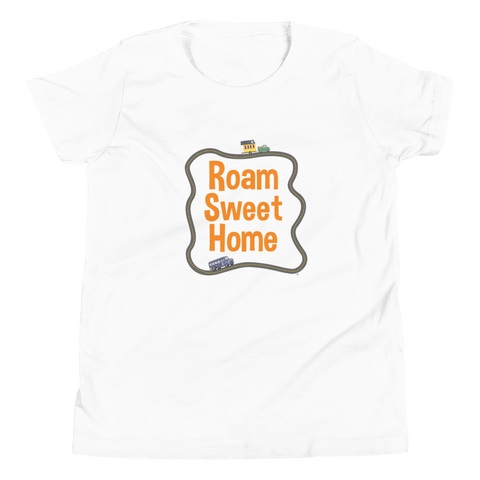 Organic Kids T Shirt Roam Sweet Home