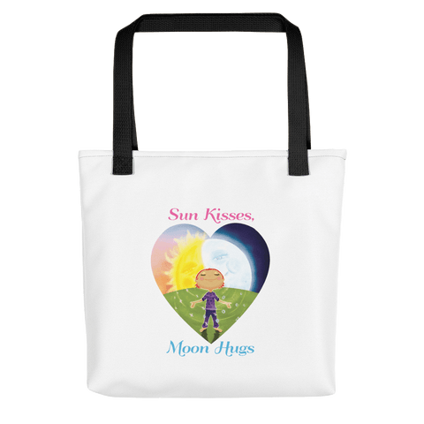 Canvas Tote Sun Kisses Moon Hugs