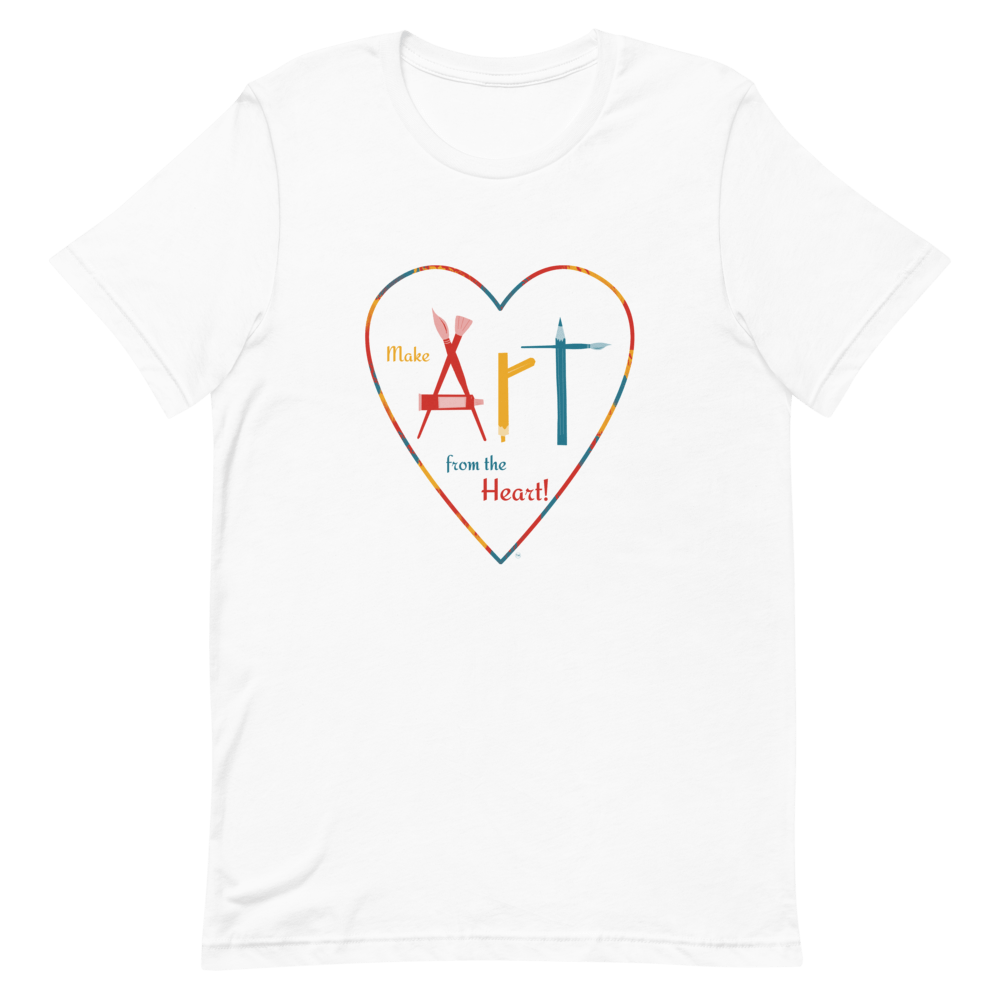 Womens Classic T Shirt Make Art
