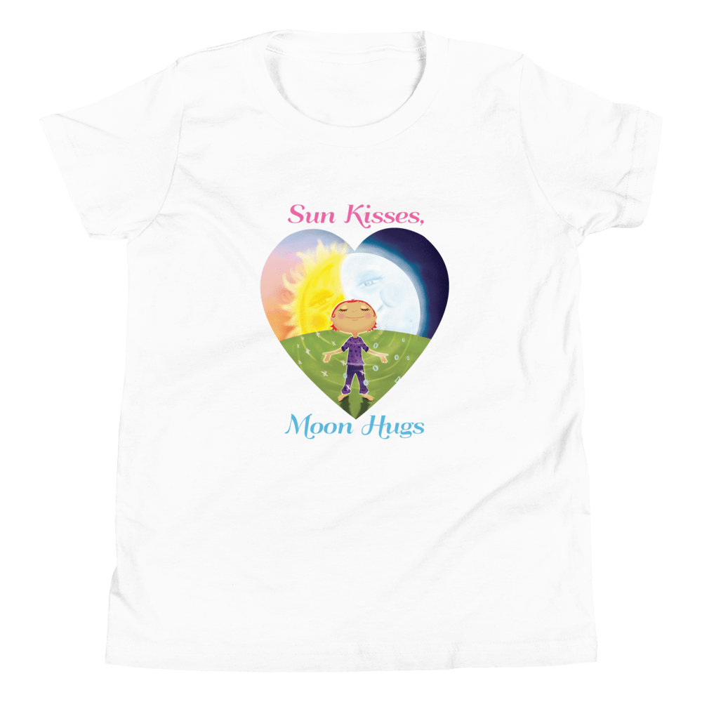 Organic Kids T Shirt Sun Kisses Moon Hugs