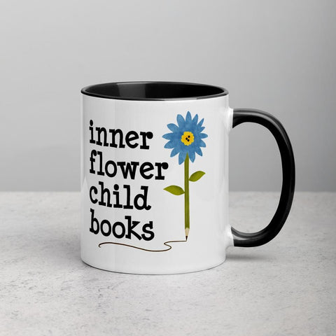Inner Flower Child Books Mug with Color Inside