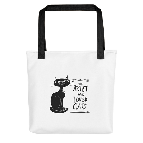 Canvas Tote Artist Who Loved Cats