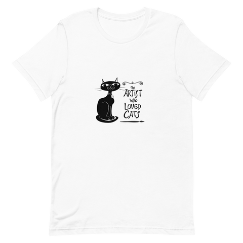 Womens Classic T Shirt Artist Loved Cats